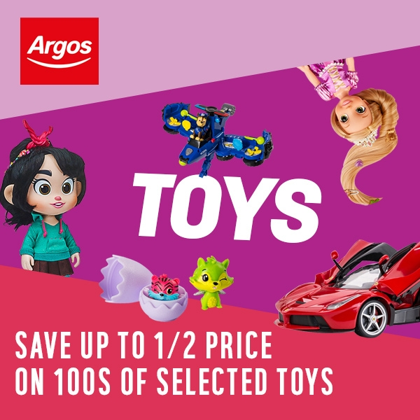 Save up to HALF PRICE on 100's of Selected Toys at Argos
