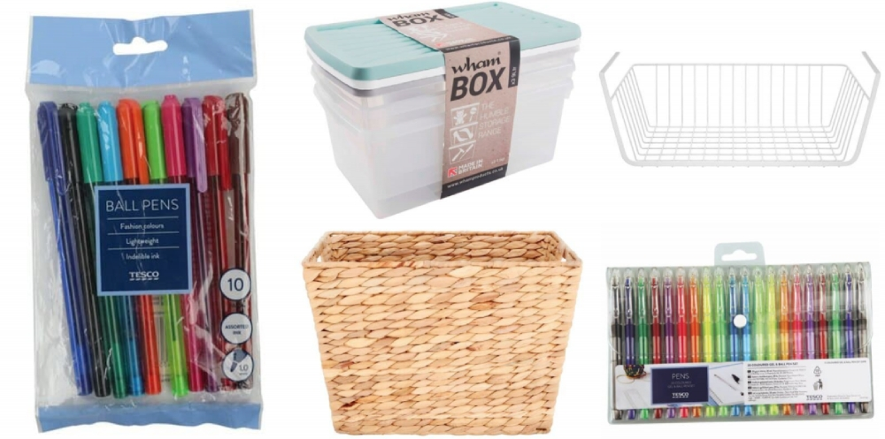 Value Storage & Stationery from Tesco