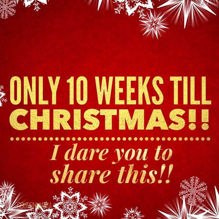 only 10 weeks till christmas i dare you to share this